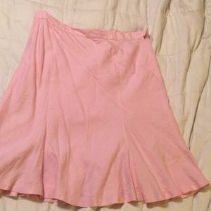 Chaps Linen Skirt Size 14